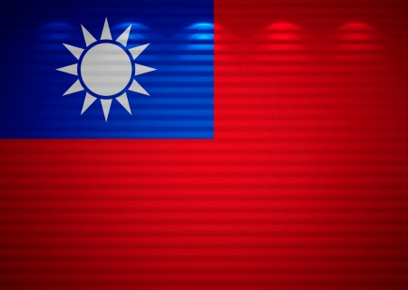 Taiwanese flag wall, abstract background