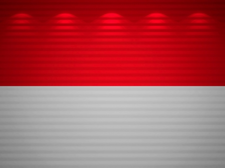 monegasque: Monegasque flag wall, abstract background Stock Photo