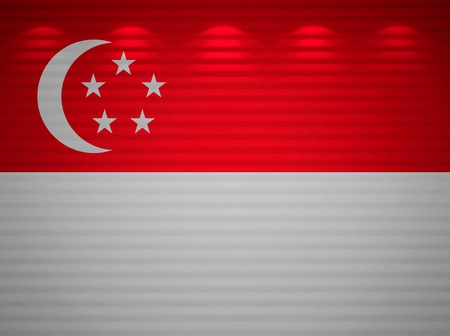Singaporean flag wall, abstract background