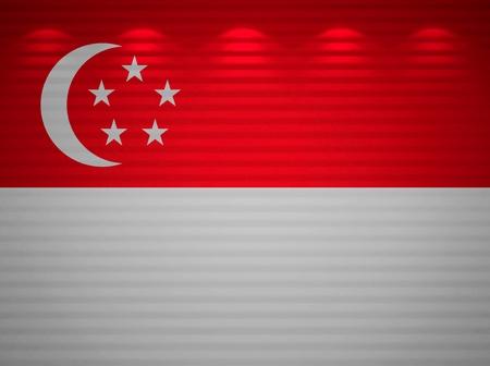 singaporean flag: Singaporean flag wall, abstract background