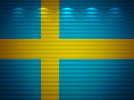 Swedish flag wall, abstract background Stock Photo - 13777476
