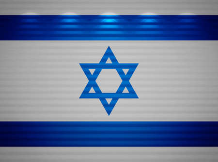 Israeli flag wall, abstract background photo