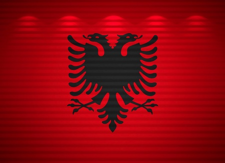 Albanian flag wall, abstract background photo