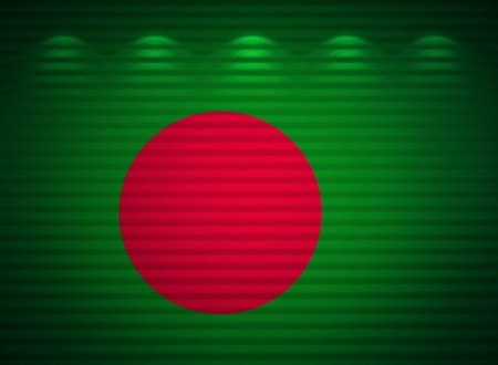 Bangladesh flag wall, abstract background photo
