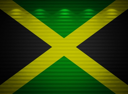 Jamaican flag wall, abstract background photo