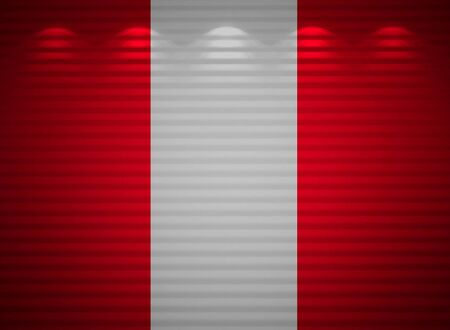 Peruvian flag wall, abstract background photo