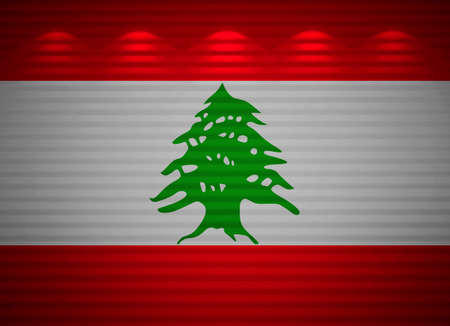 Lebanese flag wall, abstract background Stock Photo - 13794707
