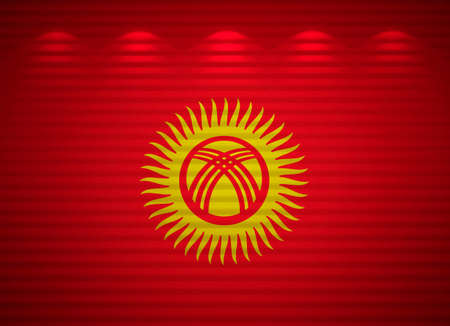 kyrgyzstan: Kyrgyz flag wall, abstract background