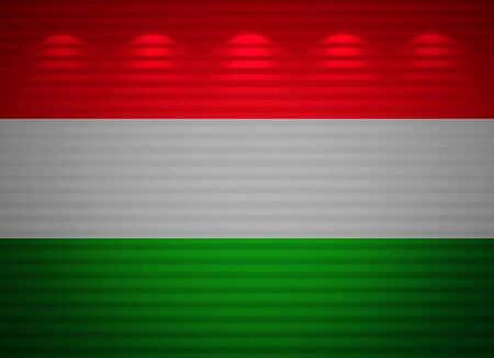 Hungarian flag wall, abstract background photo