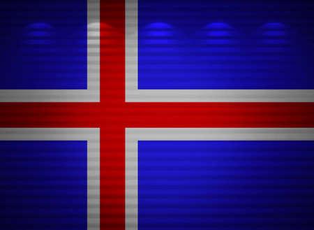 icelandic flag: Islandia bandera de la pared, resumen de antecedentes