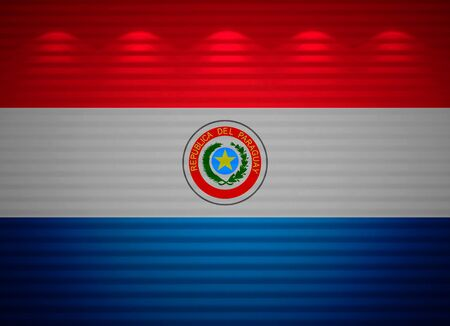 Paraguayan flag wall, abstract background photo