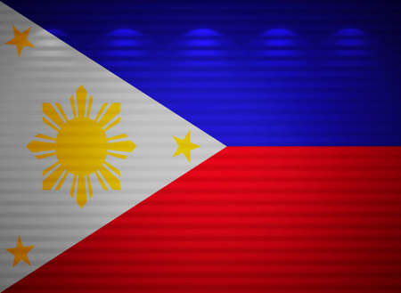 Philippine flag wall, abstract background photo