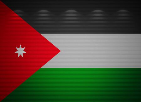 Jordanian flag wall, abstract background photo