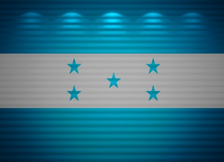Honduras flag wall, abstract background photo