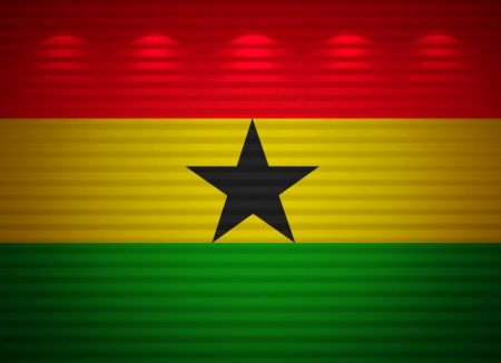 Ghana bandera pared, fondo abstracto photo