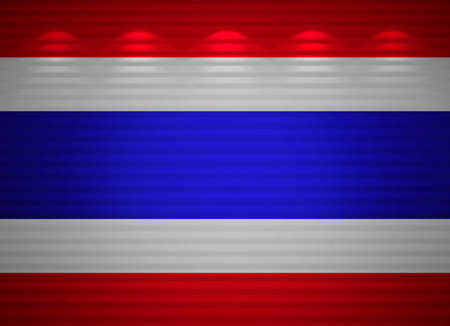 Thai flag wall, abstract background Stock Photo - 14135360
