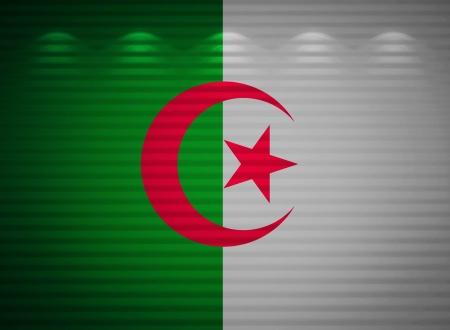 algerian flag: Algerian flag wall, abstract background