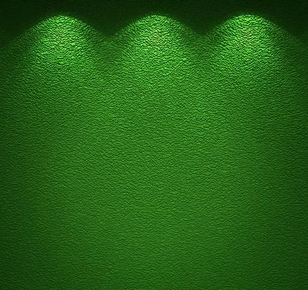 Illuminated texture of the green wall Stock Photo - 14031069