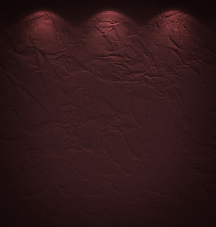Illuminated texture of the brown wall photo