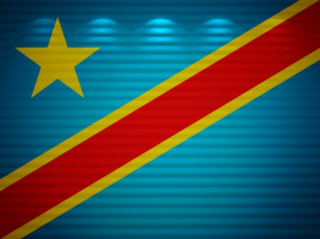 Congo flag wall, abstract background photo