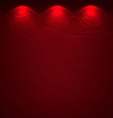 Illuminated texture of the red wall Stock Photo - 14096497