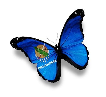 oklahoma: Flag of Oklahoma butterfly, isolated on white Stock Photo