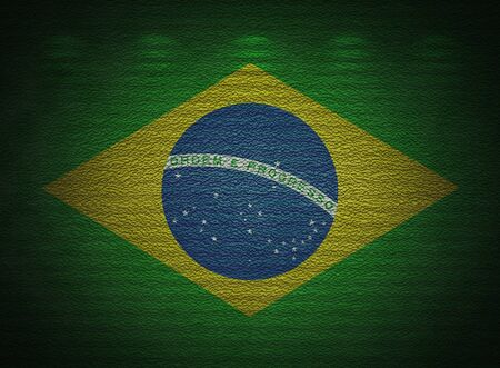 Brazilian flag wall, abstract grunge background photo