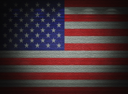 American flag wall, abstract grunge background photo
