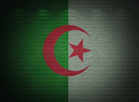 algerian flag: Algerian flag wall, abstract grunge background