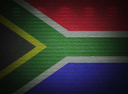 South Africa flag wall, abstract grunge background photo