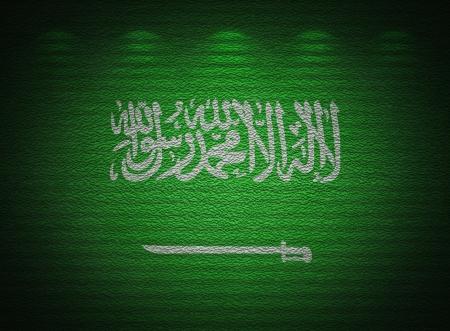 arabe: Arabia Saudita bandera pared, fondo del grunge abstracto