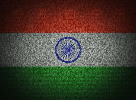 Indian flag wall, abstract grunge background photo