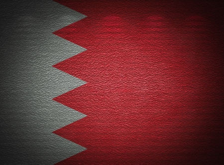 Bahraini flag wall, abstract grunge background photo