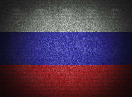Russian flag wall, abstract grunge background Stock Photo - 14232836