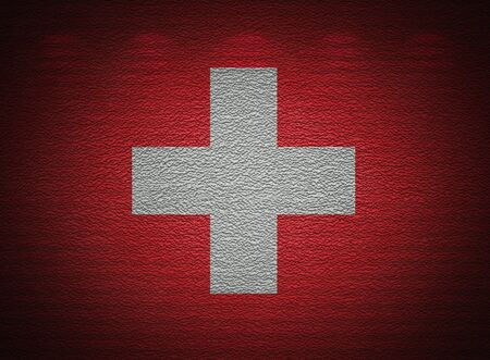 Swiss flag wall, abstract grunge background Stock Photo - 14232842