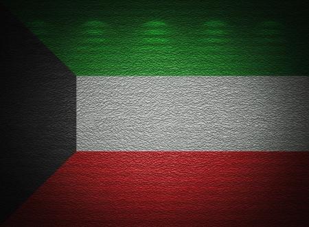 �rabe: Kuwait bandera pared, fondo del grunge abstracto