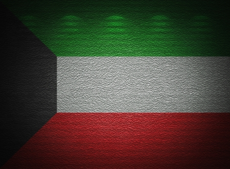 Kuwaiti flag wall, abstract grunge background photo