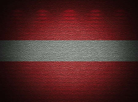 Latvian flag wall, abstract grunge background photo