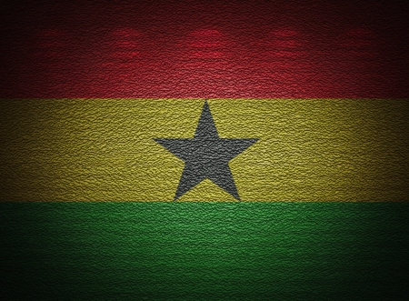 Ghana flag wall, abstract grunge background photo