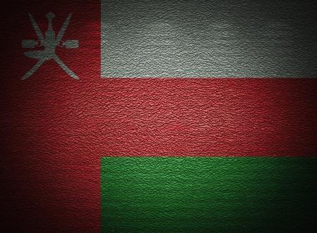 arabe: Bandera omaní pared, fondo del grunge abstracto