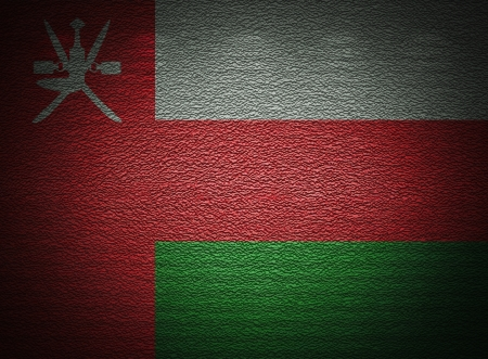 �rabe: Bandera oman� pared, fondo del grunge abstracto