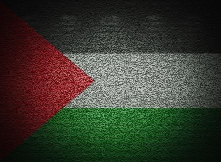 �rabe: La pared bandera palestina, de fondo grunge