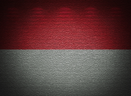 Monegasque flag wall, abstract grunge background photo