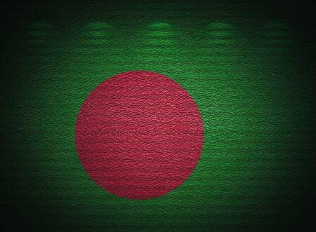 Bangladesh flag wall, abstract grunge background photo