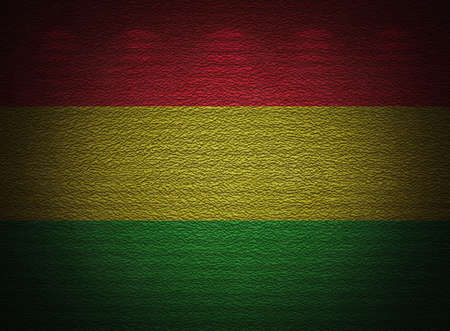 Bolivian flag wall, abstract grunge background photo