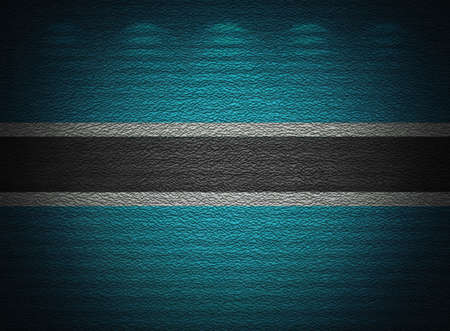 Botswana flag wall, abstract grunge background photo