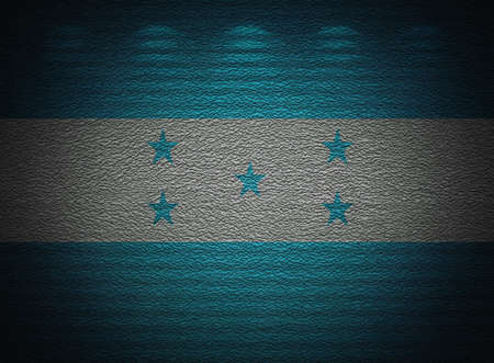 Honduras flag wall, abstract grunge background photo