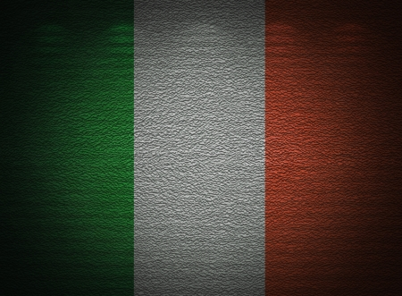 Irish flag wall, abstract grunge background photo