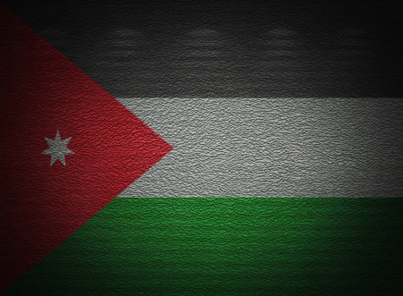 Jordanian flag wall, abstract grunge background photo