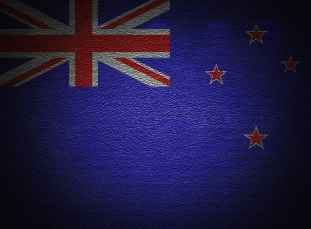 New Zealand flag wall, abstract grunge background photo